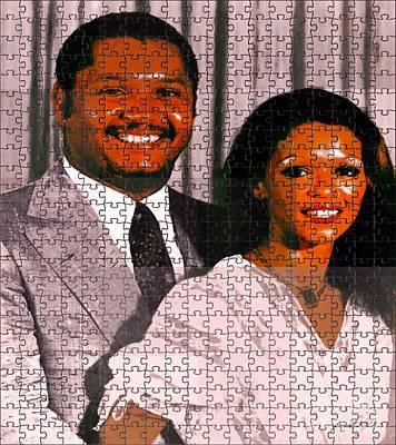 Jean Claude Et Michelle Bennette Duvalier Art Print by Fania Simon