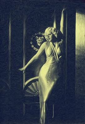 Jean Harlowe Art Print by Dwayne  Graham