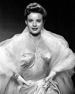 Chandelier Earrings Photograph - Jean Peters, Ca. Mid-1950s by Everett