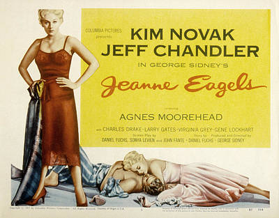 Fid Photograph - Jeanne Eagels, Kim Novak, Jeff by Everett