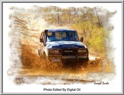 Photograph - Jeep In The Mud Edited by Digital Oil