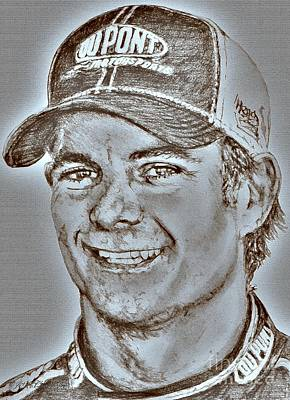 Digital Art - Jeff Gordon In 2010 by J McCombie