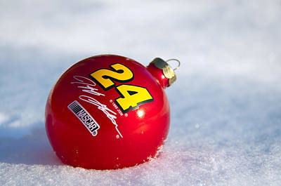 Photograph - Jeff Gordon Ornament by Glenn Gordon