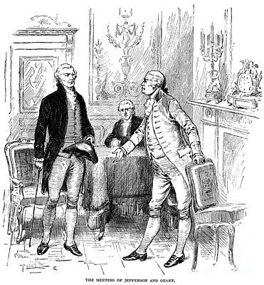 Photograph - Jefferson & Genet, 1793 by Granger