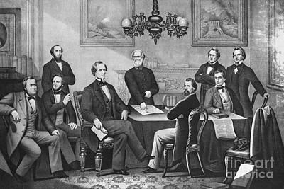 Jefferson Davis, Cabinet Print by Photo Researchers