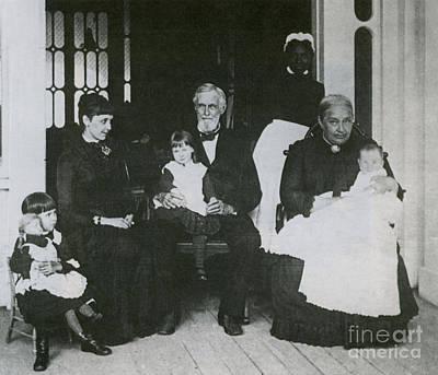 Jefferson Davis With Family Art Print