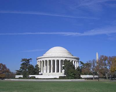 Jefferson Memorial Digital Art - Jefferson Memorial 1 by Lin Grosvenor