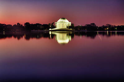 Photograph - Jefferson Memorial At Twilight by Val Black Russian Tourchin