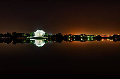 Photograph - Jefferson Memorial Before Sunrise 1 by Val Black Russian Tourchin