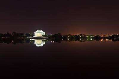 Photograph - Jefferson Memorial Before Sunrise 2 by Val Black Russian Tourchin