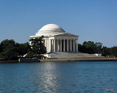 Photograph - Jefferson Memorial On The Tidal Basin Ds043 by Gerry Gantt