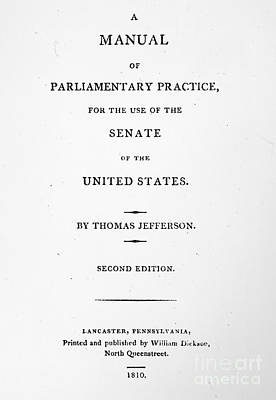 Jefferson: Title Page, 1810 Art Print by Granger