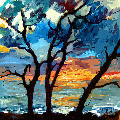 Jekyll Island Sunrise Painting Art Print