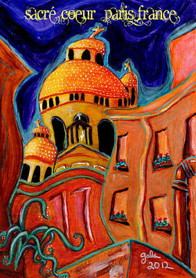 Sacre Coeur Mixed Media - Jelly Sacre Coeur  by Gala Gauthier
