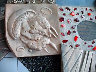 Ichtiology Sculpture - Jellyfish. Kindergarten Interior. 1988 by Yuri Yudaev-Racei