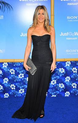 Evening Gown Photograph - Jennifer Aniston Wearing A Dolce by Everett