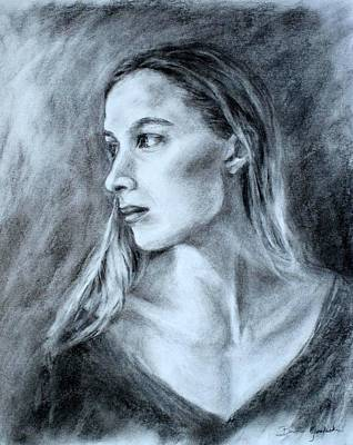 Drawing - Jennifer by Bonnie Goedecke