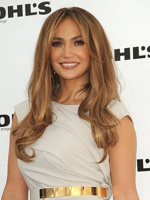 At In-store Appearance Photograph - Jennifer Lopez Wearing A Gucci Dress by Everett