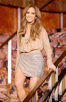 Jennifer Lopez Wearing A Haute Hippie Art Print