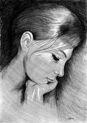 Meditation Digital Art - Jenny - Black And White by Hakon Soreide