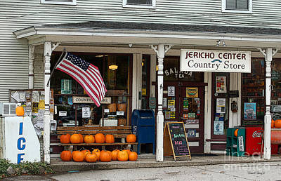Country Store Drawing - Jericho Center Country Store by Diane E Berry