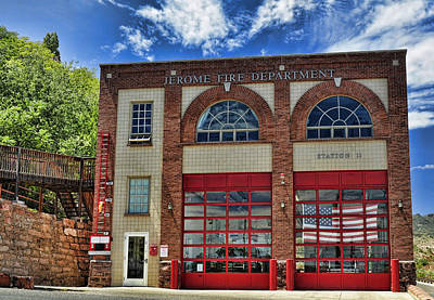 Jerome Arizona Photograph - Jerome Fire Department by Saija  Lehtonen