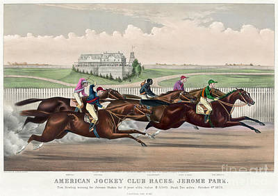 Photograph - Jerome Park Horse Race, 1873 by Granger