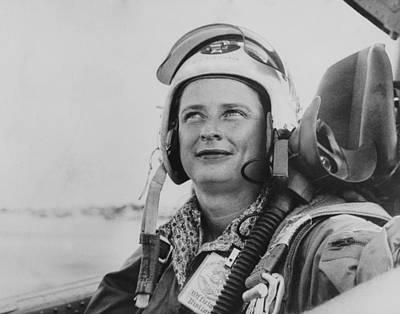 Jerrie Cobb, In U.s. Air Force Flight Print by Everett
