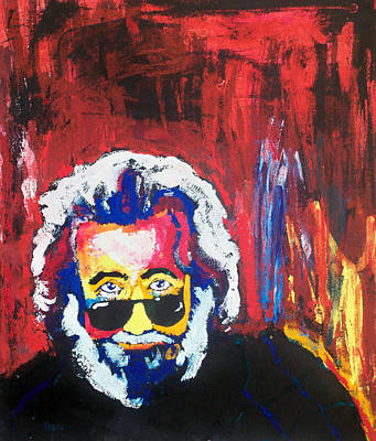Jerry Garcia Drawing - Jerry Garcia by Ann Marie Napoli