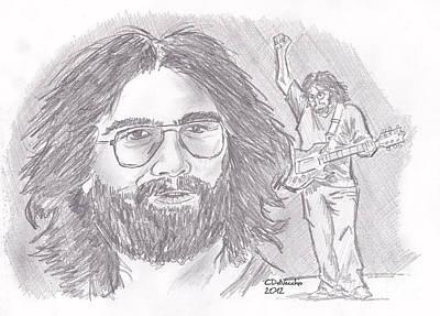Drawing - Jerry Garcia by Chris  DelVecchio