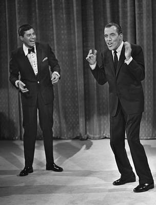 Jerry Lewis, And Ed Sullivan, Circa Art Print by Everett