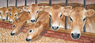 Sheep - Jersey Cows by Ronald Haber