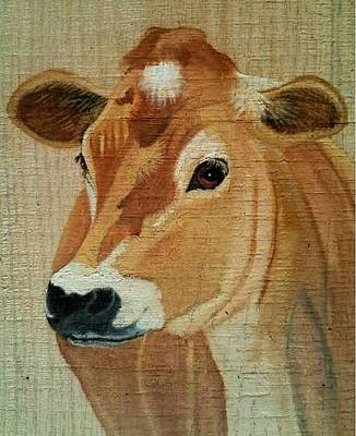 Jersey Cow Painting - Jersey by Debbie LaFrance
