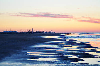 Rollercoaster Photograph - Jersey Shore Sunrise by Bill Cannon