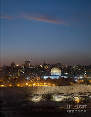 Desert Dome Photograph - Jerusalem And The Dome Of The Rock by Noam Armonn