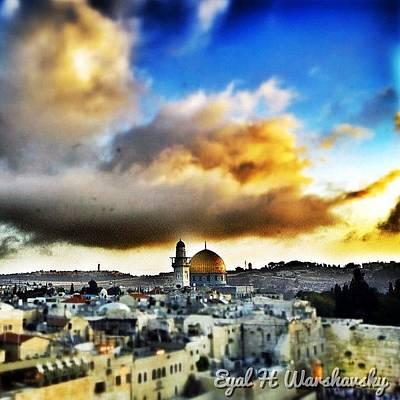 Skylines Wall Art - Photograph - #jerusalem #dome_of_the_rock by Eyal Warshavsky