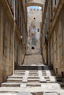 Digital Art - Jerusalem Steps by Eva Kaufman