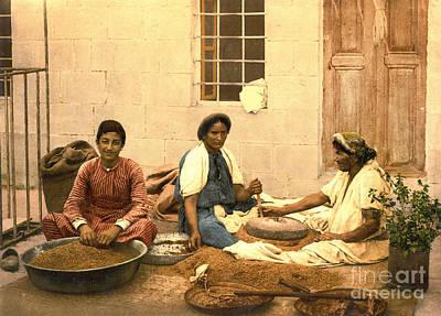 Jerusalem Women Grinding Corn 1895 Print by Padre Art