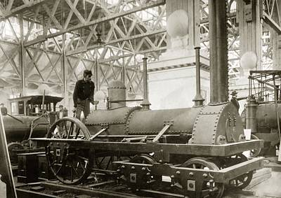 Jervis Photograph - Jervis Locomotive, Museum Display by Miriam And Ira D. Wallach Division Of Art, Prints And Photographsnew York Public Library