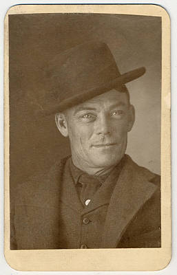 1900s Portraits Photograph - Jesse Linsley, A Member Of The Wild by Everett