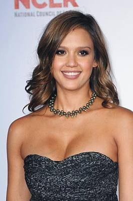 Statement Necklace Photograph - Jessica Alba At Arrivals For 2011 Nclr by Everett