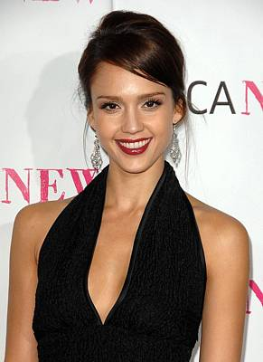 Jessica Alba At Arrivals For Moca 30th Art Print