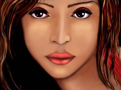 Jessica Alba Digital Art - Jessica Alba Version 2 by Mathieu Lalonde