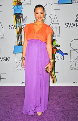 Jessica Alba Photograph - Jessica Alba Wearing A Custom Diane Von by Everett