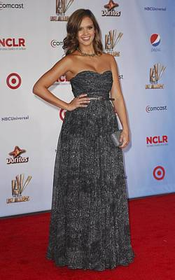 Jessica Alba Photograph - Jessica Alba Wearing A Dress By Michael by Everett