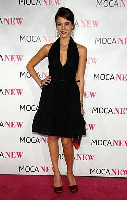 Full Skirt Photograph - Jessica Alba Wearing A Prada Dress by Everett