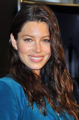 Jessica Biel At In-store Appearance Art Print by Everett