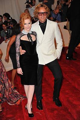 Jessica Chastain Photograph - Jessica Chastain, Peter Dundas by Everett