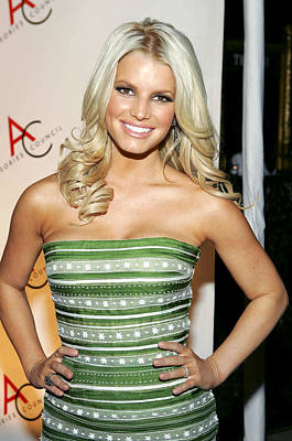 Jessica Simpson At Arrivals For 10th Art Print by Everett