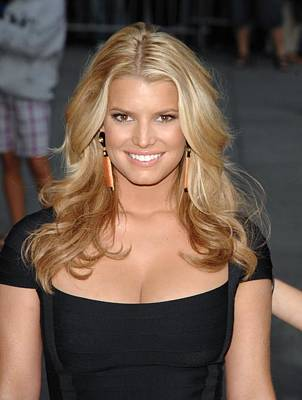 At Talk Show Appearance Photograph - Jessica Simpson At Talk Show Appearance by Everett
